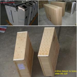 đóng gói cổng xoay ba càng bằng thùng gỗ