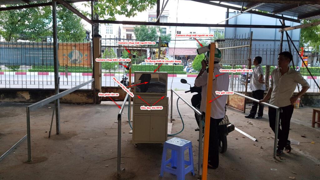 Cấu tạo máy giữ xe chuyên dùng cho bệnh viện, trường học