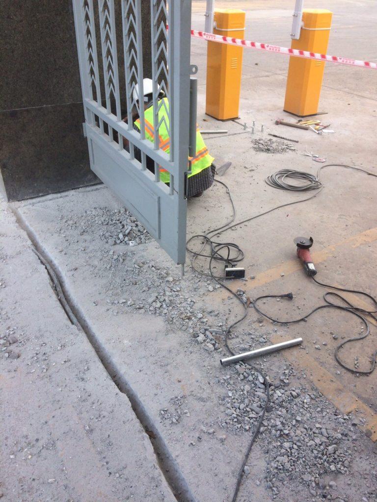 thi công lắp đặt barie tự động khu công nghiệp