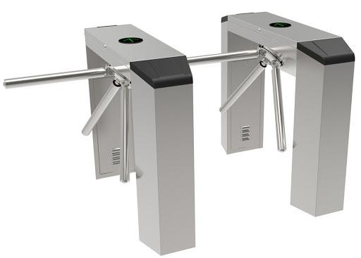 cổng soát vé khu du lịch tripod ba chấu trụ chữ nhật