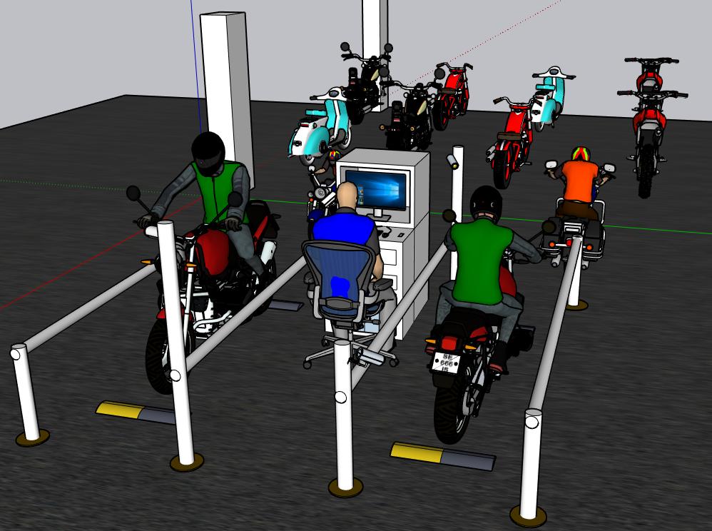 Mô hình máy giữ xe thông minh