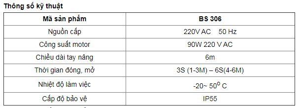 thông số kỹ thuật BS 306